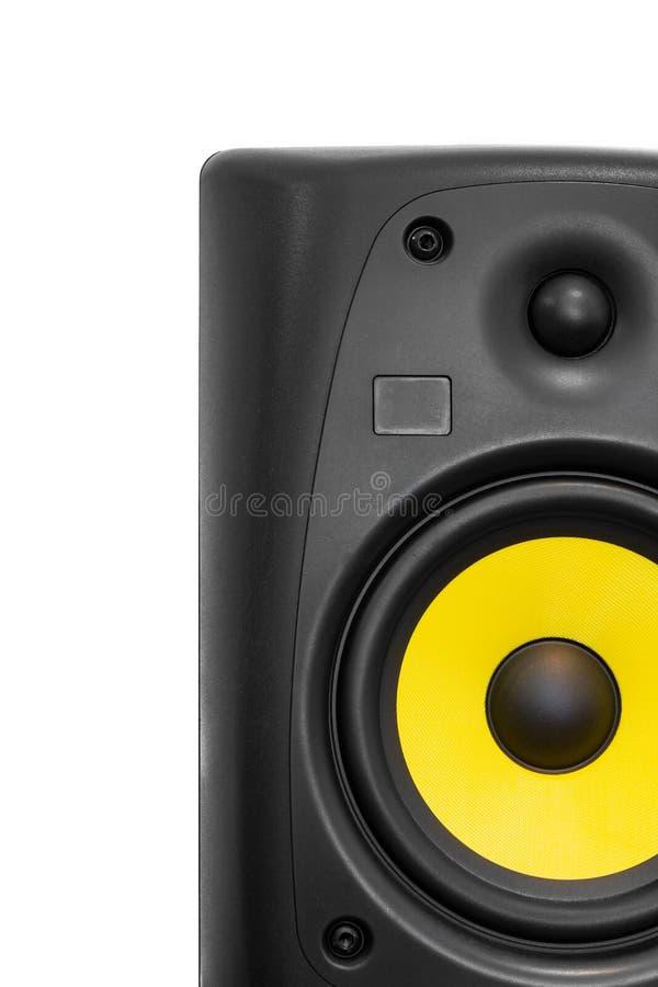 Μεγάφωνο υψηλής ποιότητας για σύστημα ήχου hifi και στούντιο ηχογράφησης στοκ φωτογραφία