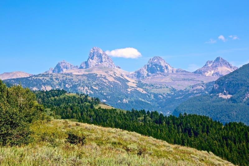 Μεγάλα βουνά Ουαϊόμινγκ Teton στοκ εικόνες με δικαίωμα ελεύθερης χρήσης
