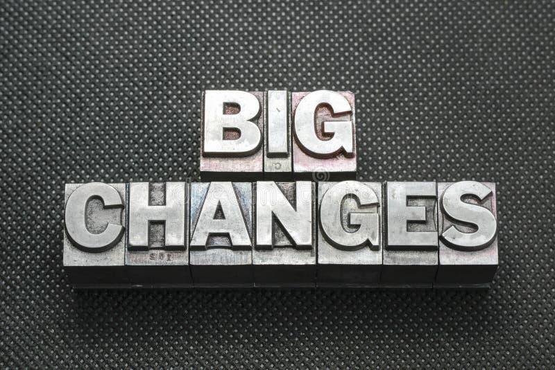 Μεγάλες αλλαγές BM στοκ εικόνες