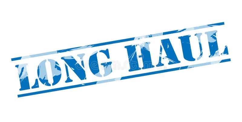 Μεγάλης απόστασης μπλε γραμματόσημο διανυσματική απεικόνιση