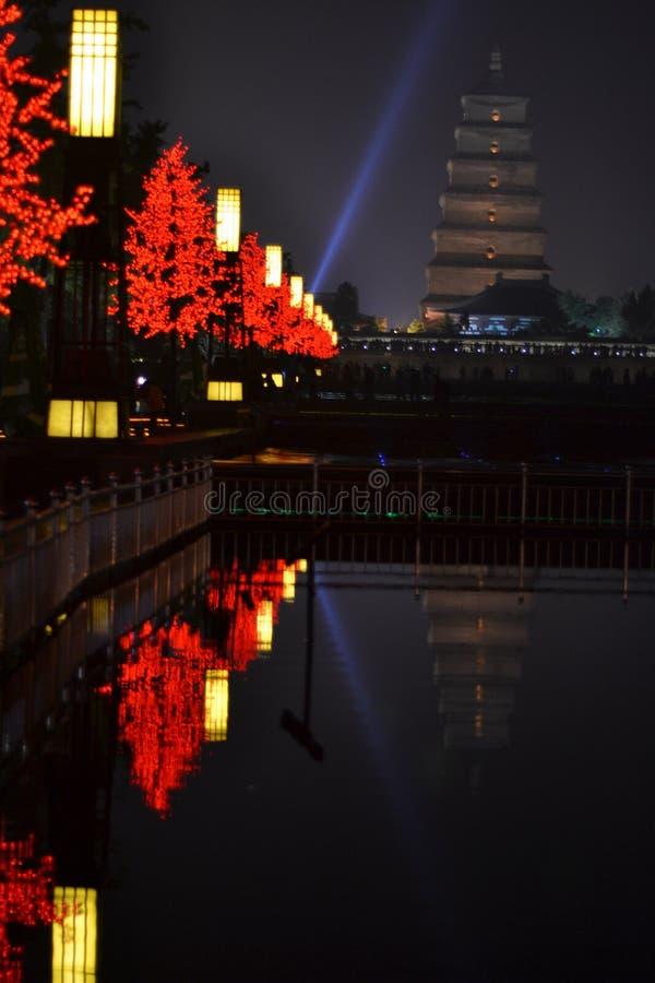 Μεγάλη άγρια παγόδα χήνων Xi'an στοκ φωτογραφία
