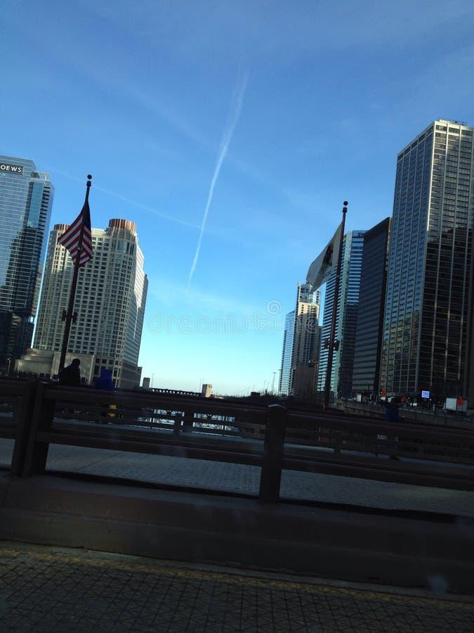 μεγάλη άποψη του Σικάγου στοκ εικόνες
