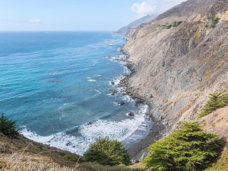 Μεγάλη άποψη Sur, Ragged σημείο, Καλιφόρνια στοκ εικόνες με δικαίωμα ελεύθερης χρήσης