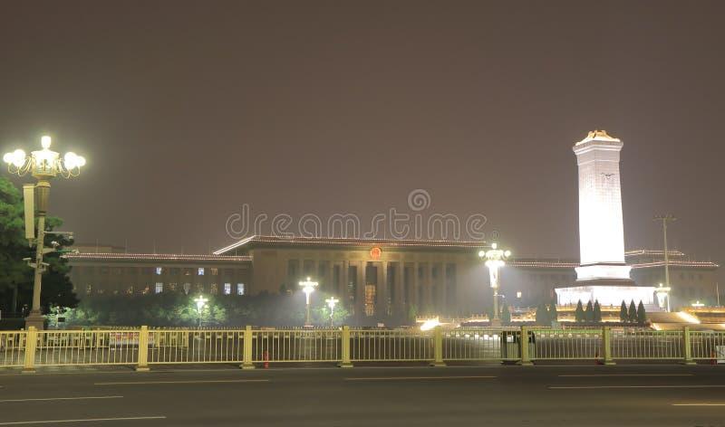 Μεγάλη αίθουσα των ανθρώπων Πεκίνο Κίνα στοκ εικόνες