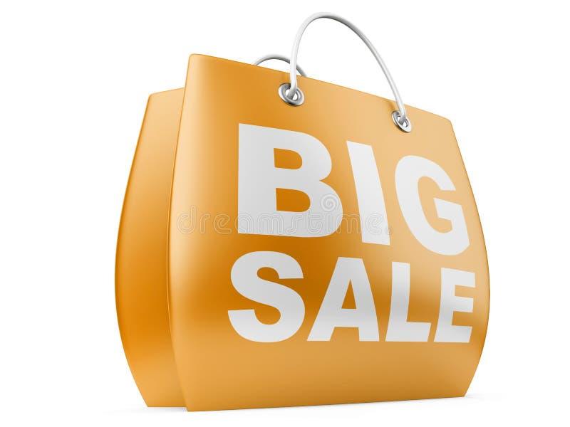 Μεγάλη ανακοίνωση πώλησης διανυσματική απεικόνιση