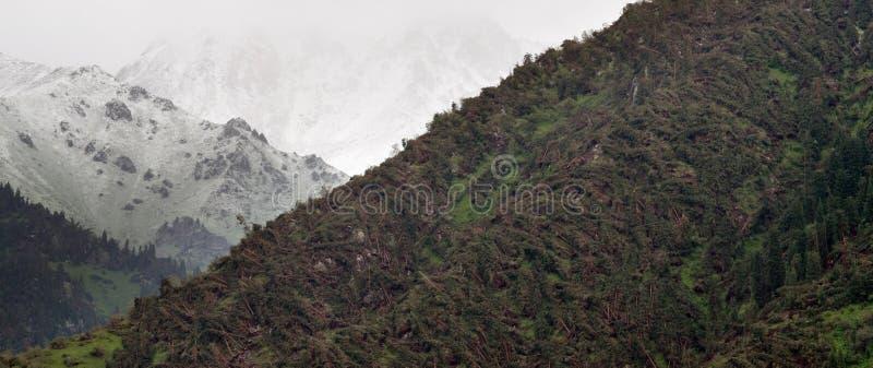 Μεγάλη ανεμοθύελλα στο βουνό στοκ εικόνες με δικαίωμα ελεύθερης χρήσης