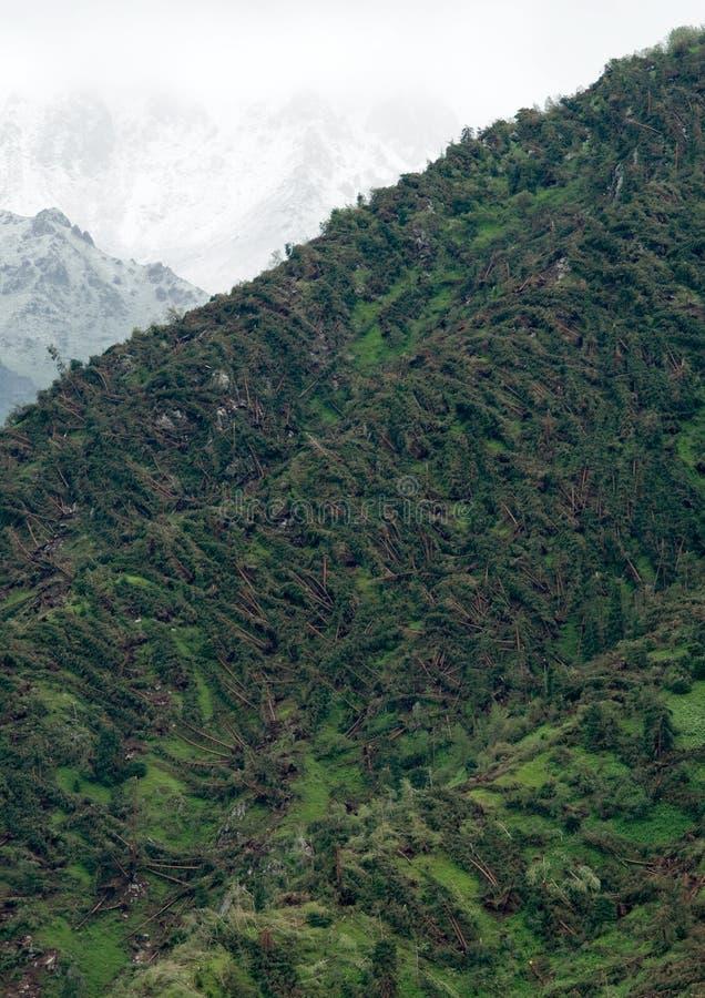 Μεγάλη ανεμοθύελλα στο βουνό στοκ φωτογραφία