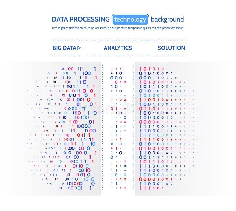 Μεγάλη απεικόνιση στοιχείων Έννοια analytics πληροφοριών Αφηρημένες πληροφορίες ρευμάτων Αλγόριθμοι μηχανών φιλτραρίσματος ελεύθερη απεικόνιση δικαιώματος