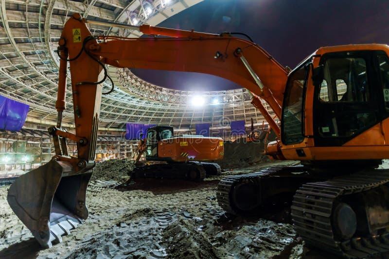 Μεγάλη κατασκευή αθλητικών σταδίων στοκ εικόνα με δικαίωμα ελεύθερης χρήσης