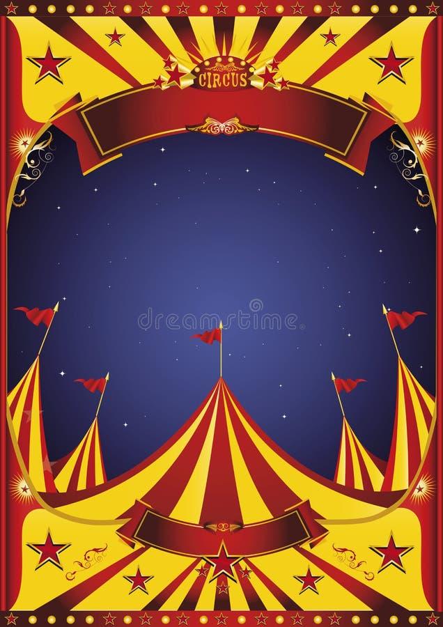 Μεγάλη κορυφή τσίρκων νύχτας ουρανού ελεύθερη απεικόνιση δικαιώματος