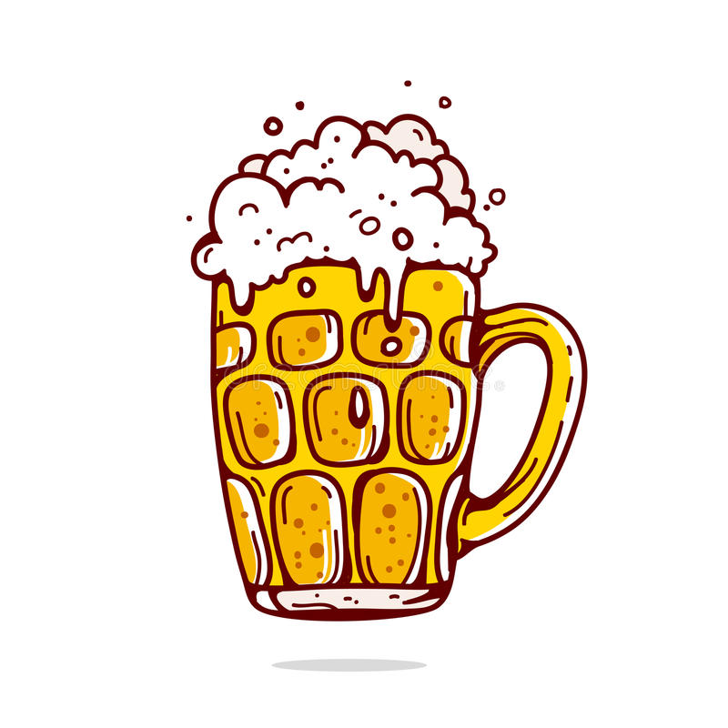 μεγάλη κούπα μπύρας διανυσματική απεικόνιση
