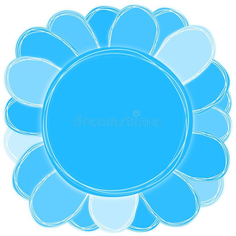 Μεγάλη μπλε κάρτα πρόσκλησης λουλουδιών ελεύθερη απεικόνιση δικαιώματος