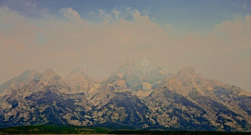 Μεγάλη ομίχλη βουνών Teton στοκ φωτογραφία με δικαίωμα ελεύθερης χρήσης