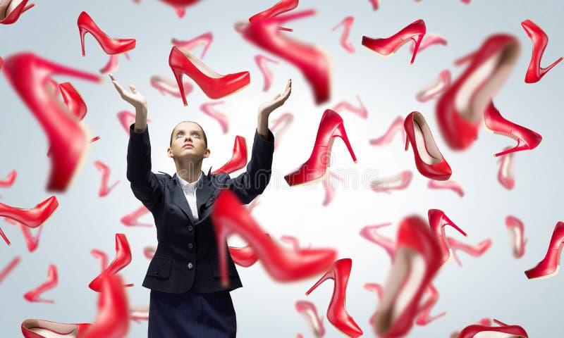 Μεγάλη πώληση παπουτσιών στοκ φωτογραφίες με δικαίωμα ελεύθερης χρήσης