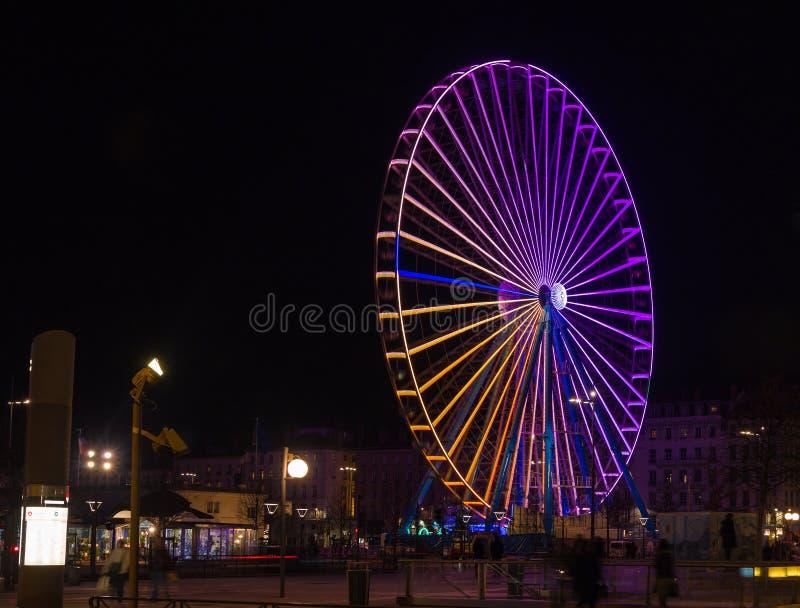 Μεγάλη ρόδα Λυών Γαλλία στοκ φωτογραφία με δικαίωμα ελεύθερης χρήσης