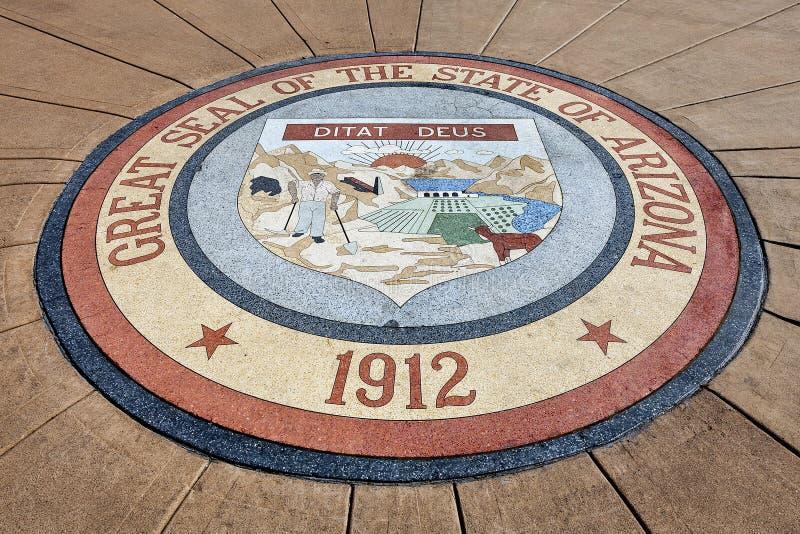 Μεγάλη σφραγίδα του κράτους της Αριζόνα στοκ φωτογραφία με δικαίωμα ελεύθερης χρήσης