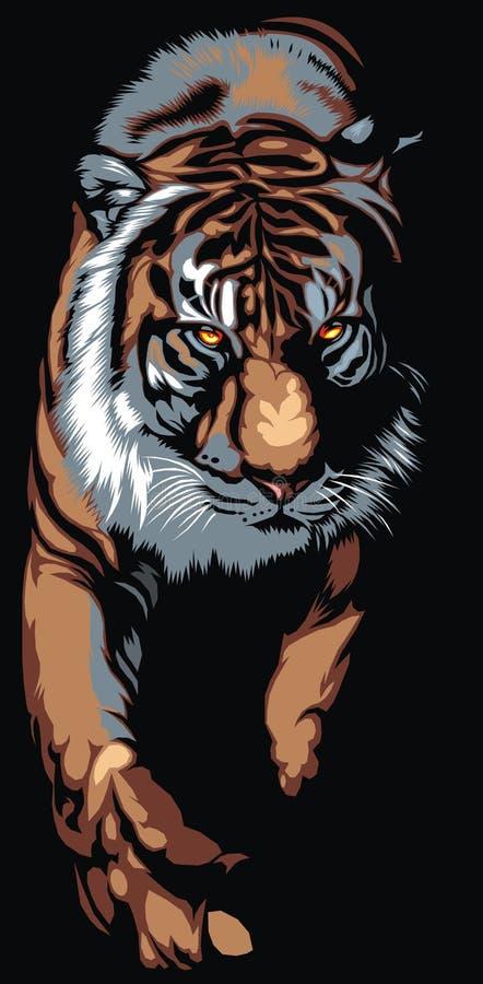 Μεγάλη τίγρη διανυσματική απεικόνιση
