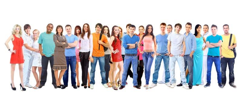 Μεγάλοι σπουδαστές ομάδας. Πέρα από το άσπρο υπόβαθρο στοκ εικόνες με δικαίωμα ελεύθερης χρήσης
