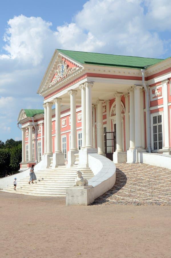 Μεγάλος δέκατος όγδοος αιώνας Sheremetevs γραφικών παραστάσεων κτημάτων Kuskovo συνόλων της Ρωσίας Μόσχα παλατιών σπιτιών στοκ εικόνα με δικαίωμα ελεύθερης χρήσης