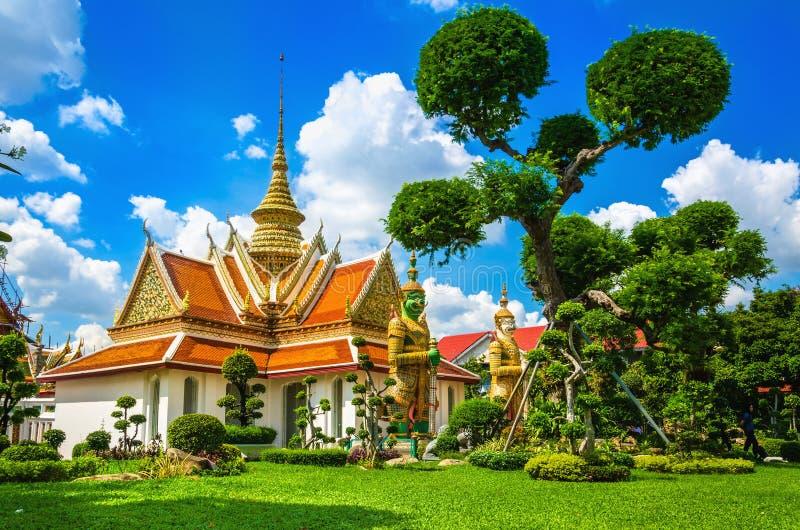 Μεγάλος βουδιστικός ναός Μπανγκόκ, Ταϊλάνδη παλατιών στοκ φωτογραφίες με δικαίωμα ελεύθερης χρήσης