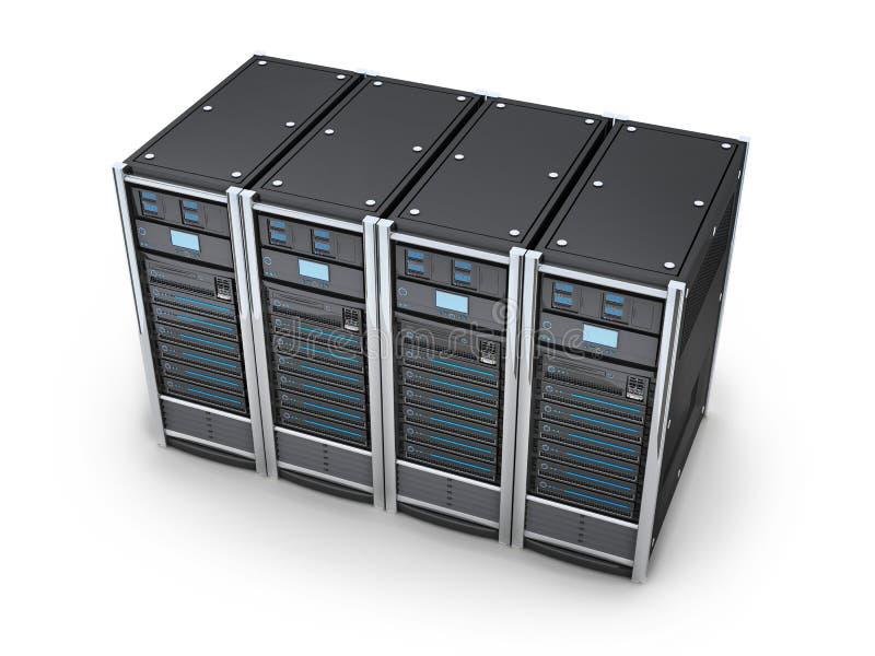 Μεγάλος κεντρικός υπολογιστής τέσσερα απεικόνιση αποθεμάτων