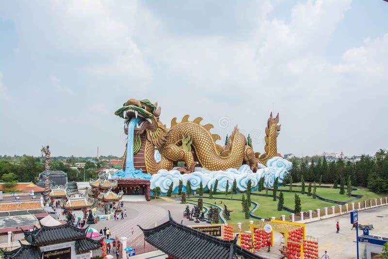 Μεγάλος δράκος στο μουσείο απογόνων δράκων, Ταϊλάνδη στοκ εικόνες