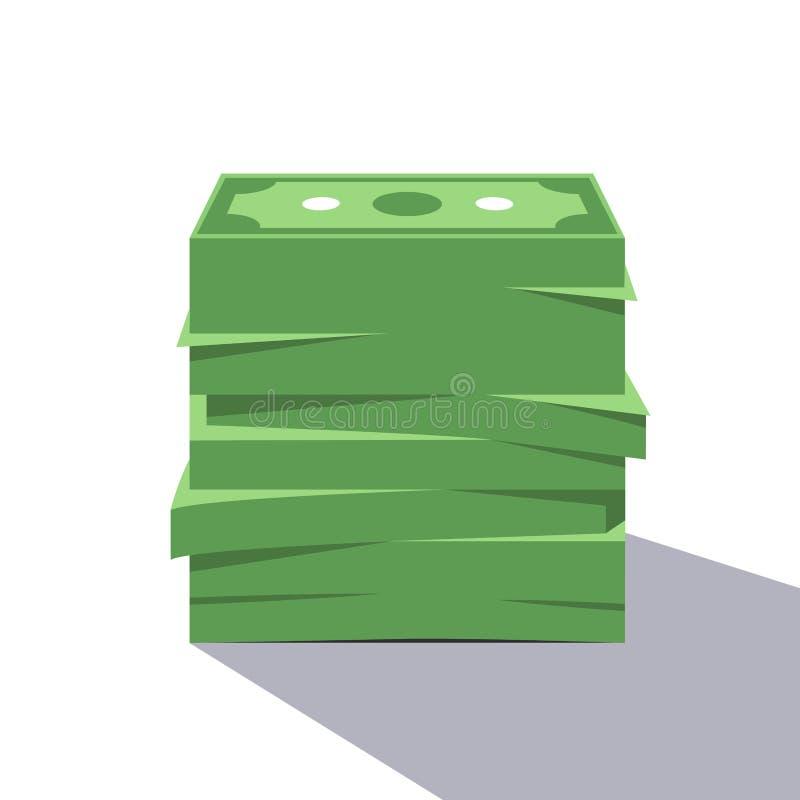Μεγάλος σωρός του δολαρίου Bill ελεύθερη απεικόνιση δικαιώματος