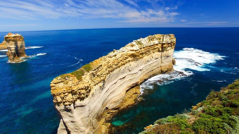 μεγάλος ωκεάνιος δρόμο&sigm Εναέρια άποψη από την άποψη Razorback στοκ φωτογραφία με δικαίωμα ελεύθερης χρήσης
