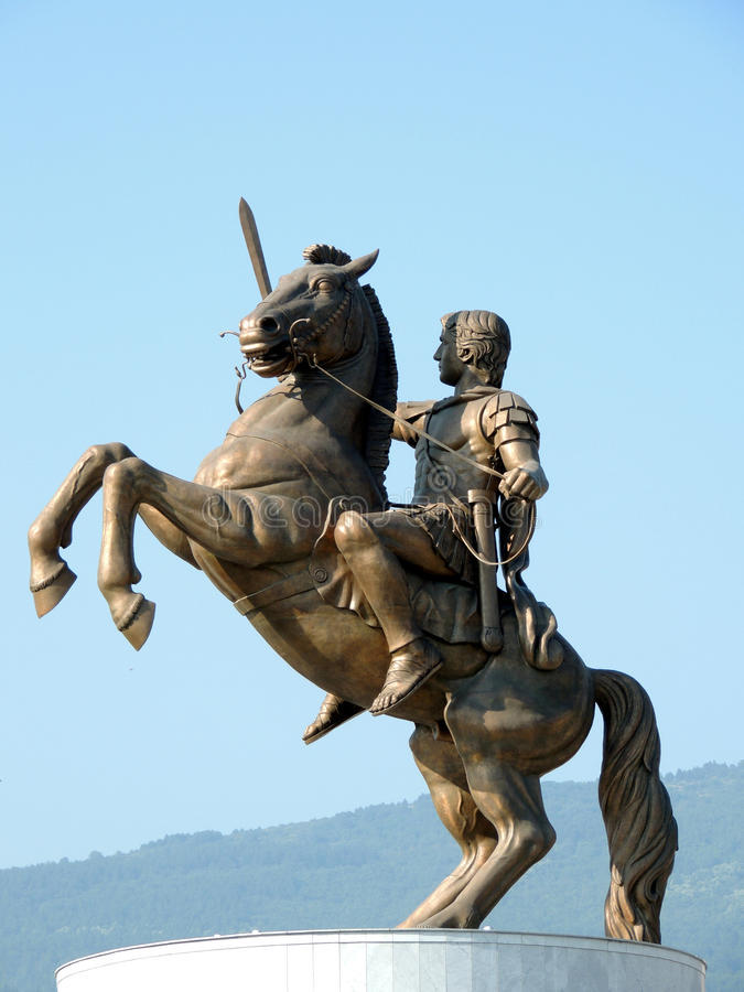 μεγάλο άγαλμα του Αλεξάνδρου στοκ εικόνα