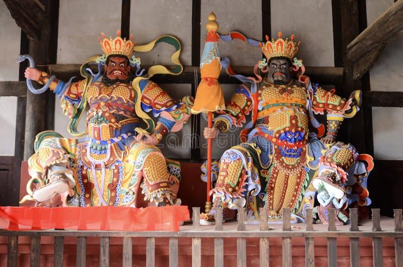 Μεγάλο θεϊκό γλυπτό βασιλιάδων τέσσερα στοκ εικόνες με δικαίωμα ελεύθερης χρήσης