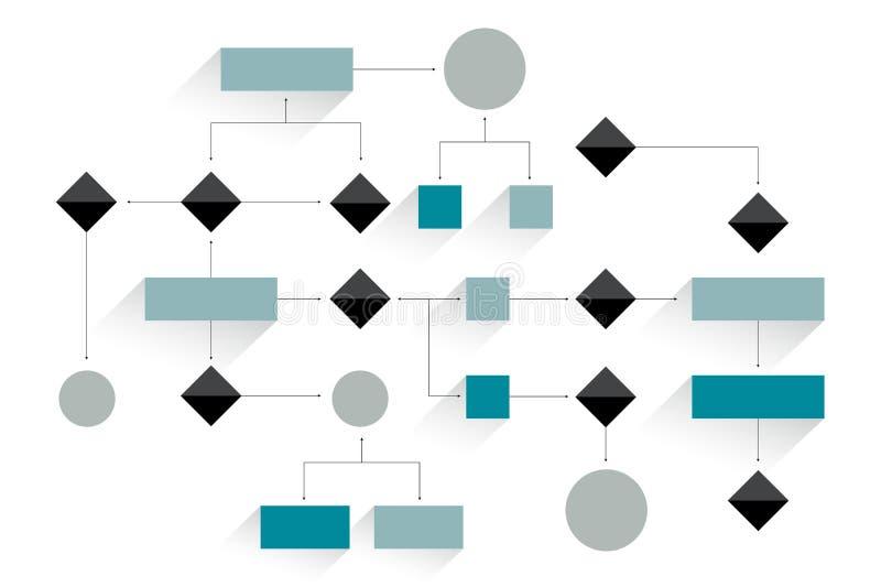 Μεγάλο διάγραμμα ροής Γεωμετρικό σχέδιο διανυσματική απεικόνιση