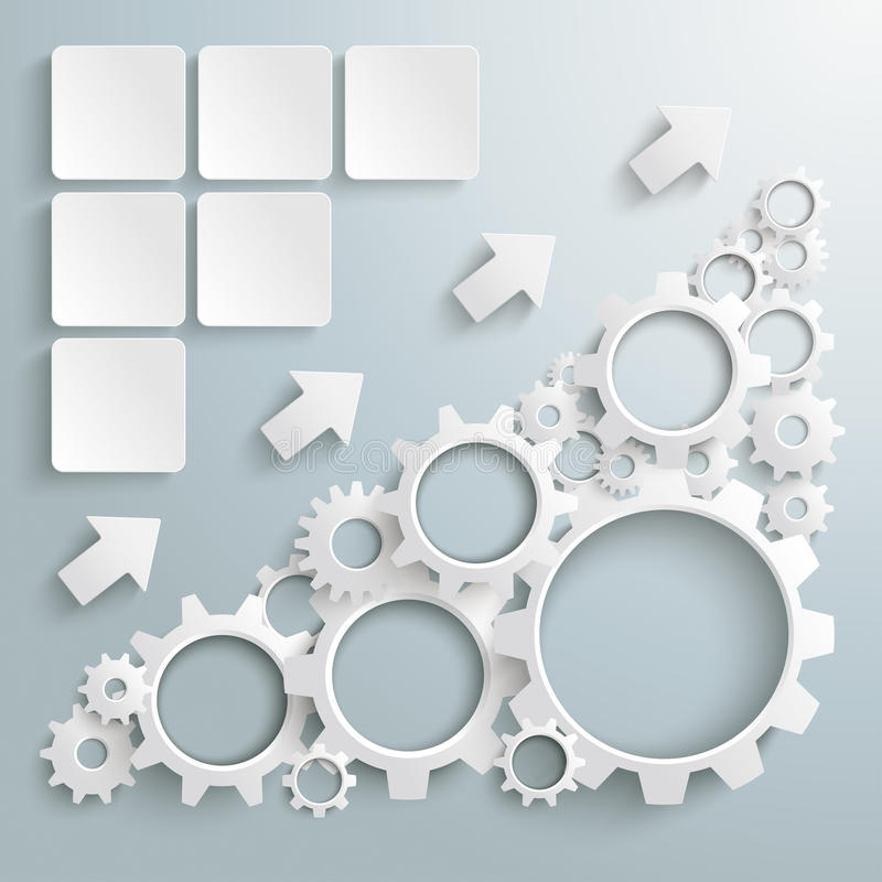 Μεγάλο διάγραμμα PiAd εργαλείων μηχανών άσπρο απεικόνιση αποθεμάτων