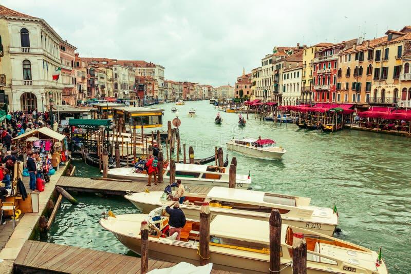 Μεγάλο κανάλι στη Βενετία, Ιταλία στοκ εικόνες