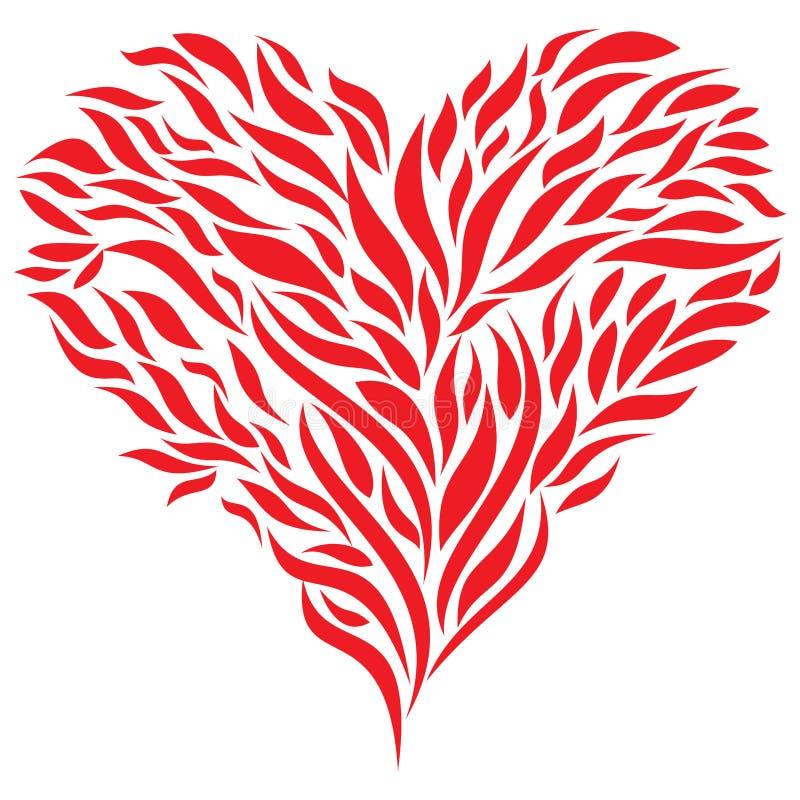μεγάλο κόκκινο καρδιών διανυσματική απεικόνιση