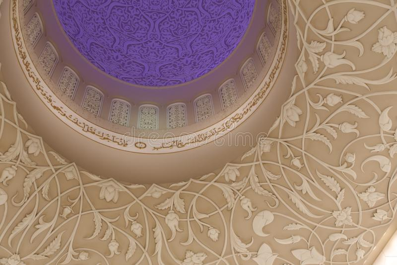 Μεγάλο μουσουλμανικό τέμενος Αμπού Νταμπί Zayed στοκ φωτογραφία με δικαίωμα ελεύθερης χρήσης