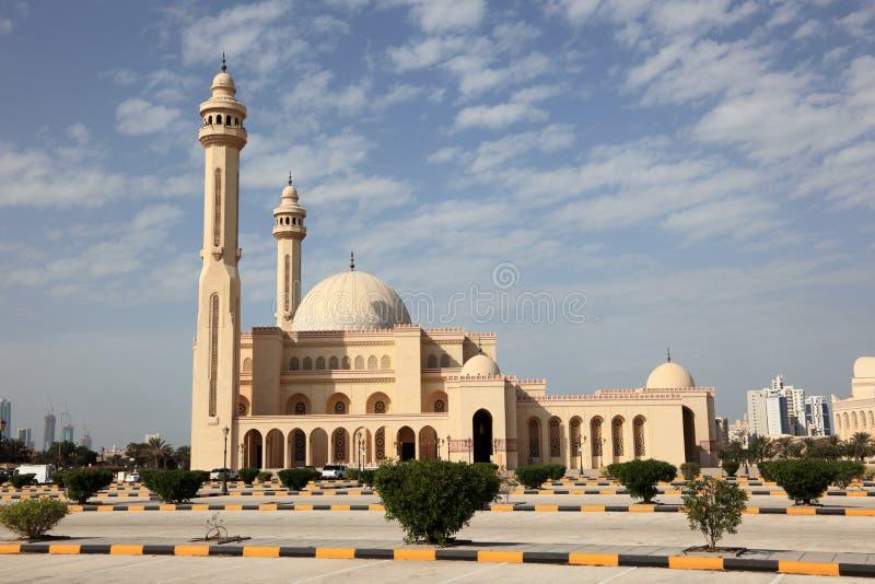 Μεγάλο μουσουλμανικό τέμενος σε Manama, Μπαχρέιν στοκ φωτογραφία