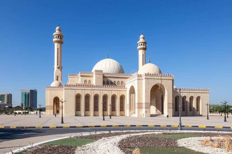 Μεγάλο μουσουλμανικό τέμενος Al Fateh σε Manama, Μπαχρέιν στοκ εικόνα