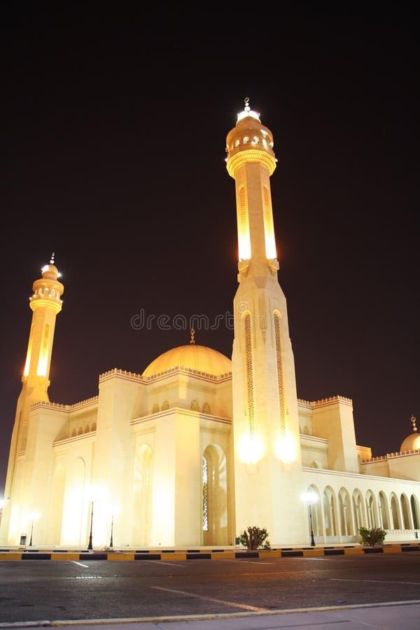 Μεγάλο μουσουλμανικό τέμενος Al Fateh σε Manama, Μπαχρέιν στοκ εικόνες με δικαίωμα ελεύθερης χρήσης