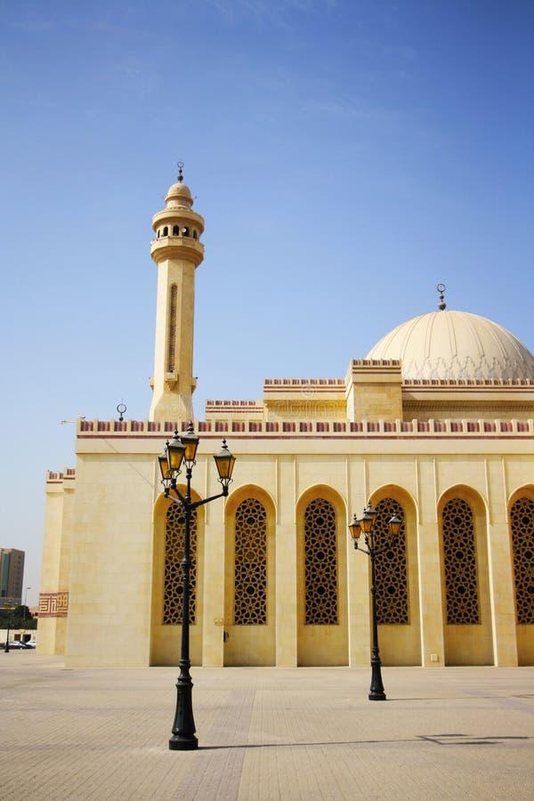 Μεγάλο μουσουλμανικό τέμενος Al Fateh σε Manama, Μπαχρέιν στοκ φωτογραφία με δικαίωμα ελεύθερης χρήσης