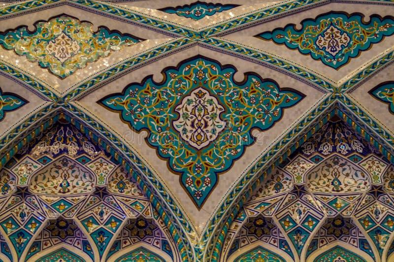 Μεγάλο μουσουλμανικό τέμενος - Muscat - Ομάν στοκ εικόνα με δικαίωμα ελεύθερης χρήσης