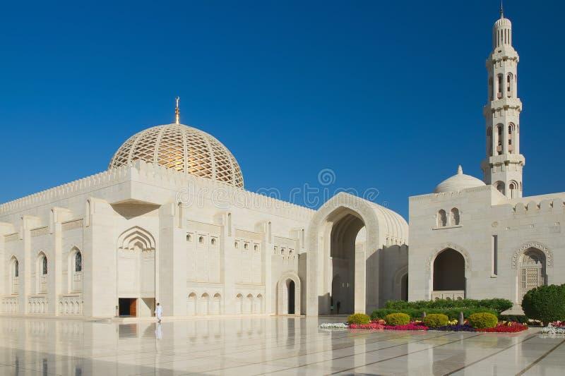 Μεγάλο μουσουλμανικό τέμενος Qaboos σουλτάνων - Muscat στοκ εικόνα
