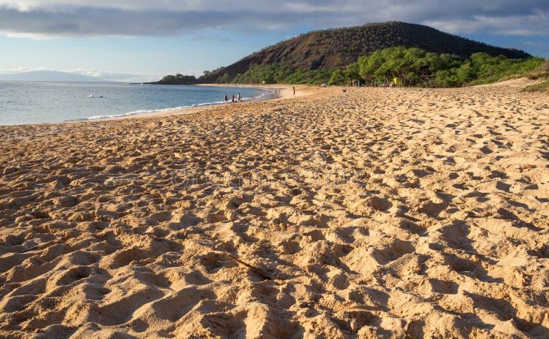 Μεγάλο παραλία ή Oneloa σε Maui Χαβάη στοκ φωτογραφία με δικαίωμα ελεύθερης χρήσης