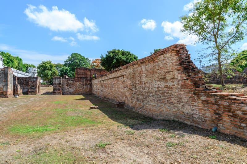 Μεγάλο παλάτι του βασιλιά Narai, βασιλιάς του βασίλειου Ayutthaya στοκ εικόνες