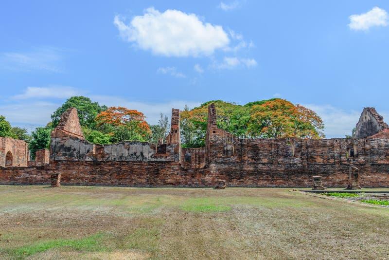 Μεγάλο παλάτι του βασιλιά Narai, βασιλιάς του βασίλειου Ayutthaya στοκ φωτογραφία