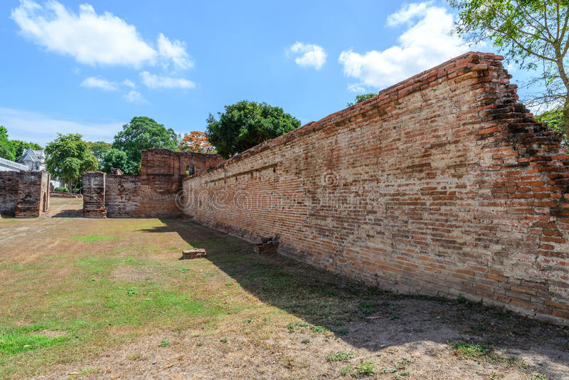 Μεγάλο παλάτι του βασιλιά Narai, βασιλιάς του βασίλειου Ayutthaya στοκ εικόνα
