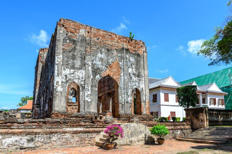 Μεγάλο παλάτι του βασιλιά Narai, βασιλιάς του βασίλειου Ayutthaya στοκ φωτογραφία με δικαίωμα ελεύθερης χρήσης