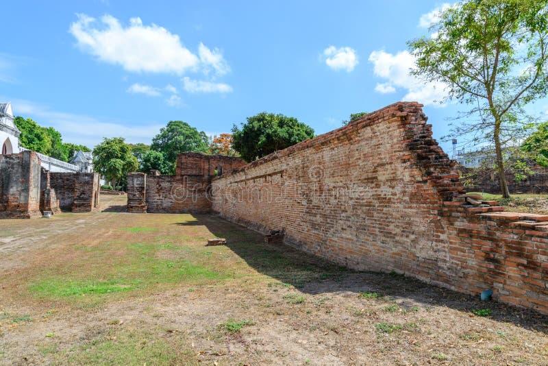 Μεγάλο παλάτι του βασιλιά Narai, βασιλιάς του βασίλειου Ayutthaya στοκ φωτογραφίες με δικαίωμα ελεύθερης χρήσης