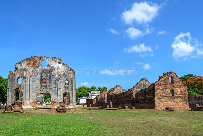 Μεγάλο παλάτι του βασιλιά Narai, βασιλιάς του βασίλειου Ayutthaya στοκ φωτογραφίες