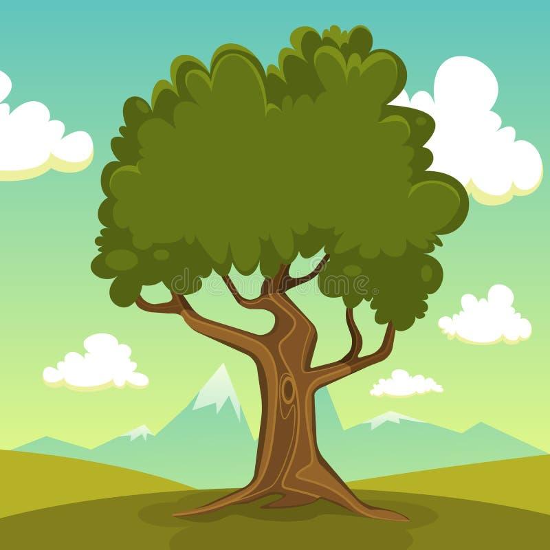 Μεγάλο παλαιό δέντρο ελεύθερη απεικόνιση δικαιώματος