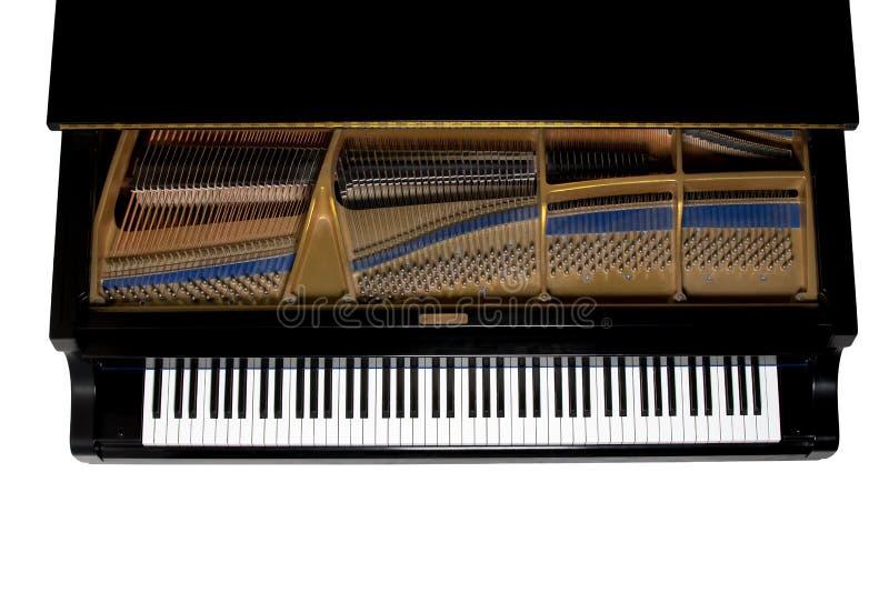 Μεγάλο πιάνο που αντιμετωπίζεται άνωθεν - απομονωμένος στοκ εικόνες